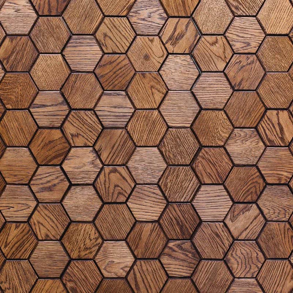 Настенная 3D панель из массива брашированного дуба KARELIA SOTY FASKA