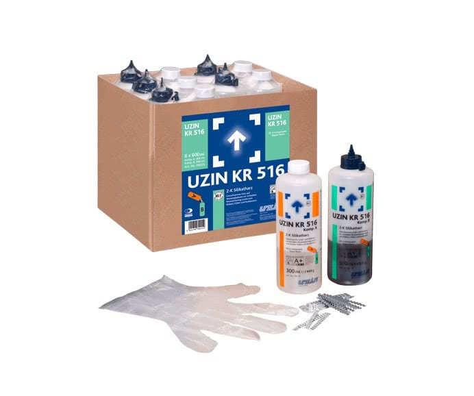 2-х компонентная силикатная смола UZIN KR516 0,6 кг.