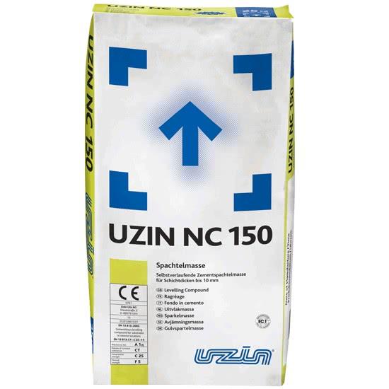 Саморастекающаяся цементная шпаклевочная масса для слоев толщиной до 10 мм. UZIN NC150 25 кг.