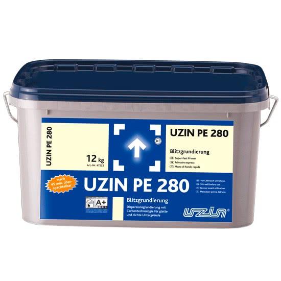 Быстросохнущая дисперсионная грунтовка с углеродистой технологией для гладких и плотных оснований UZIN PE 280 5 кг.