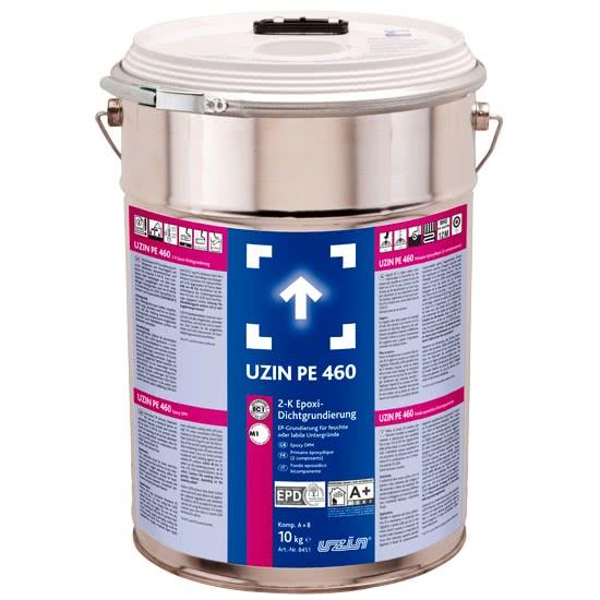 Двухкомпонентная эпоксидная грунтовка для влажных или слабых оснований 2-К UZIN PE 460 10 кг.