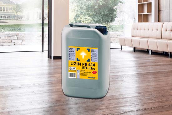 1-компонентная полиуретановая быстросохнущая грунтовкана основе реакционной смолы UZIN PE 414 Bi-Turbo 6 кг.