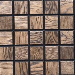 Настенная 3D панель из массива брашированного дуба KARELIA SHOKOLAD